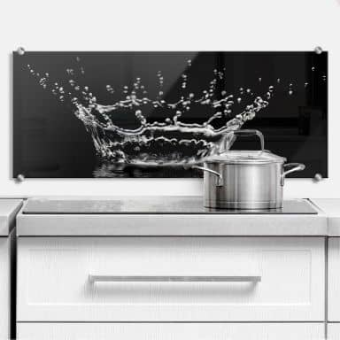 Drops of Water - Panorama - Kitchen Splashback