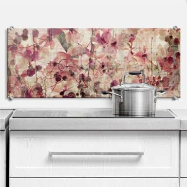 Crédence Motif floral vintage  - Panorama