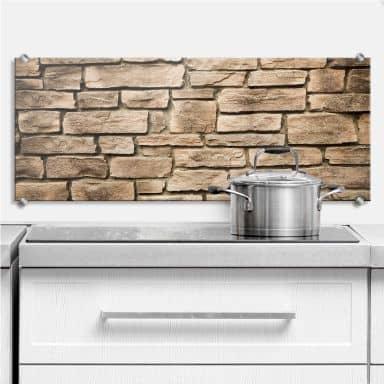 Italian Stone Wall - Panorama - Kitchen Splashback