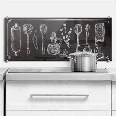 Rustic Kitchen - Panorama - Kitchen Splashback