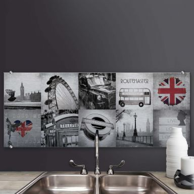 Splashback Alu-Dibond Impressions of London