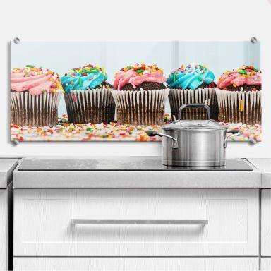Spritzschutz Party Cupcakes - Panorama