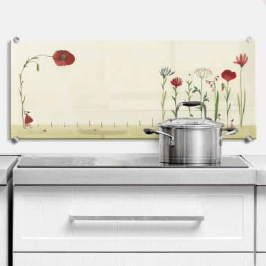 Splashback  Leffler Panorama – Lonely Flower