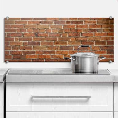 Brick Wall - Panorama - Kitchen Splashback