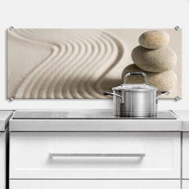 Stone in Sand 2 - Panorama - Kitchen Splashback