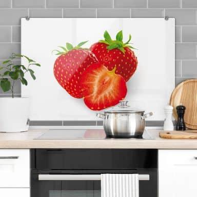 Strawberries - Kitchen Splashback