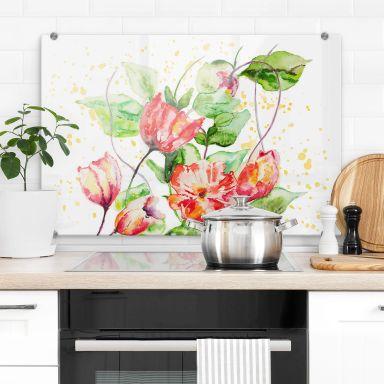 Küchenrückwand Toetzke - Gartenblumen