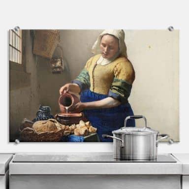 Spritzschutz Vermeer - Das Mädchen mit dem Milchkrug