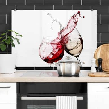 Wine Glasses - Kitchen Splashback