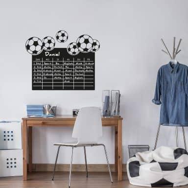 Tafelfolie Stundenplan Fußball