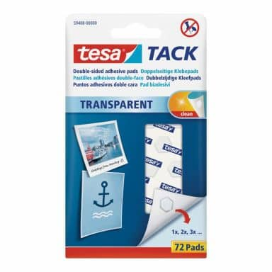 tesa® TACK - doppelseitige Klebepads 72 Stk.