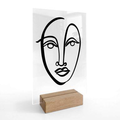 Acrylglas Tafeldecoratie Hariri - Face 09