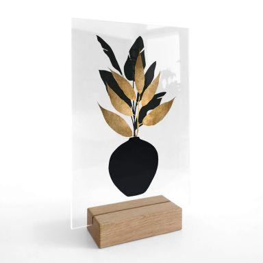 Chevalet de table en verre acrylique Kubistika - Bouquet No 5