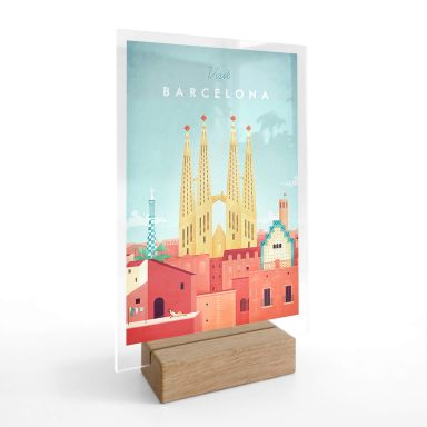 Tischaufsteller Rivers - Barcelona