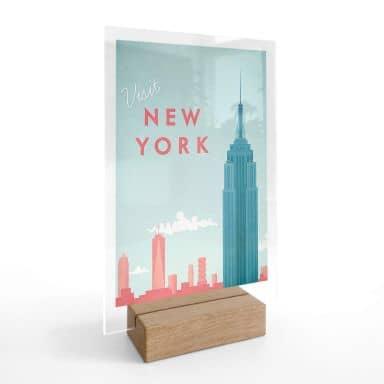 Tischaufsteller Rivers - New York