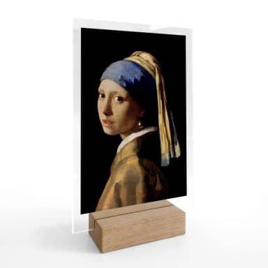 Tischaufsteller Vermeer - Das Mädchen mit dem Perlenohrgehänge