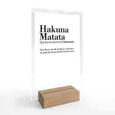 Tischaufsteller Grammatik - Hakuna Matata