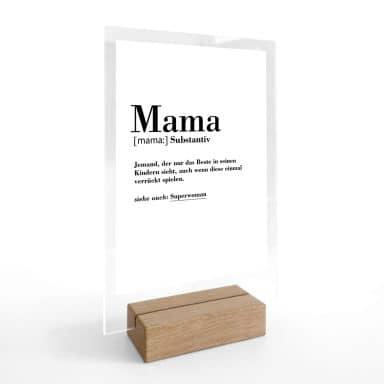Tischaufsteller Grammatik - Mama