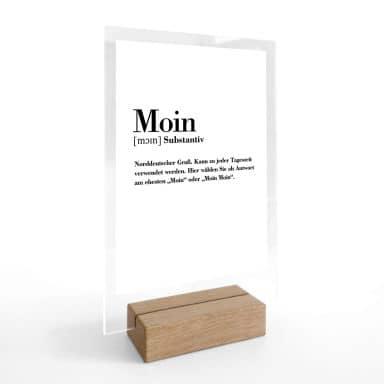 Tischaufsteller Grammatik - Moin