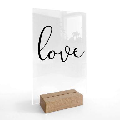 Decoro acrilico + supporto Love