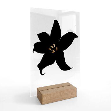 Tischaufsteller Kubistika - Dunkle Orchidee