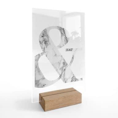 Tischaufsteller Marble Ampersand