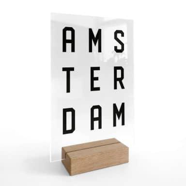 Decoro acrilico + supporto Amsterdam