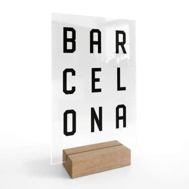 Decoro acrilico + supporto Barcellona