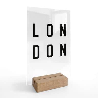 Tischaufsteller Typografie London