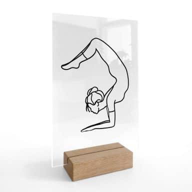 Tischaufsteller Yoga Skorpion - Line Art