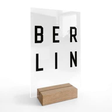 Decoro acrilico + supporto Berlino