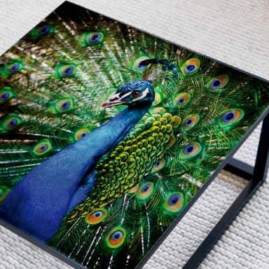 Glazen Tafelblad Beautiful Peacock