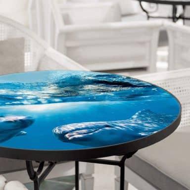 Glazen Tafelblad Dolfijnen Onderwater