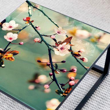 Tischplatte aus Glas - Frühlingserwachen - Quadratisch - 60x60 cm