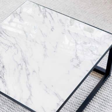 Tischplatte aus Glas - Marmor 04 - Quadratisch - 6