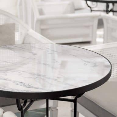Tischplatte aus Glas - Marmor 04 - Rund