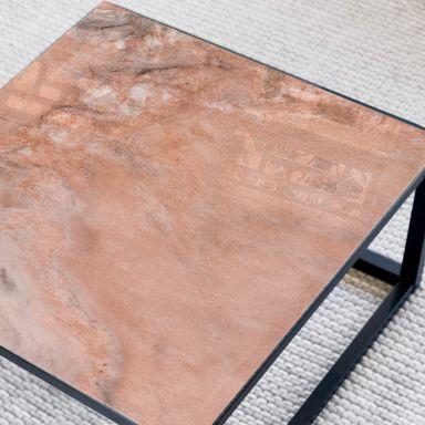 Tischplatte aus Glas - Marmor 06 - Quadratisch