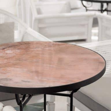 Tischplatte aus Glas - Marmor 06 - Rund
