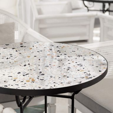 Glazen Tafelblad Terrazzo