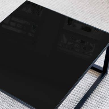 Glazen Tafelblad Zwart