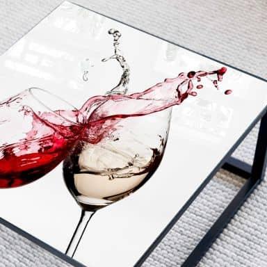 Tischplatte aus Glas - Weingläser - Quadratisch - 60x60 cm