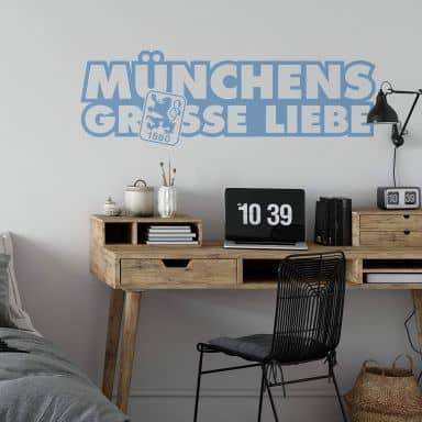 Wandtattoo 1860 München Grosse Liebe