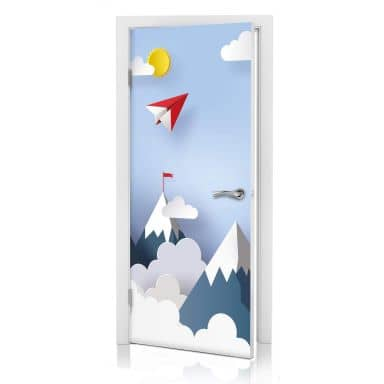 Door Decor Paper Planes in the Mountains