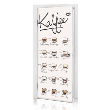 Türdesign Kaffeesorten