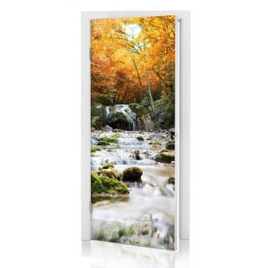 Door decor: Autumn Waterfall