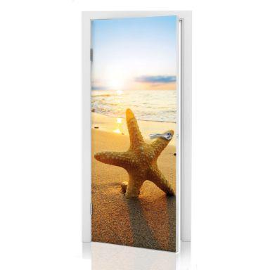 Türdesign Seestern im Sand