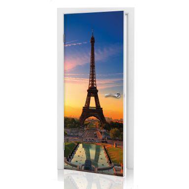 Door decor: Eiffel Tower at Sunset