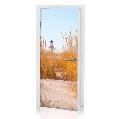 Door decor: Lighthouse on the Beach