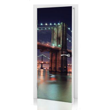 Door decor: Manhattan Bridge at Night 02