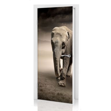 Door decor: Elephants